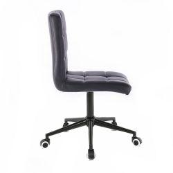 Kosmetická židle 1015K na černé podstavě s kolečky - černá