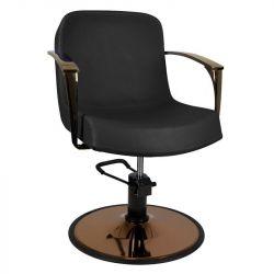 GABBIANO Kadeřnická židle COPPER BOLONIA - černá