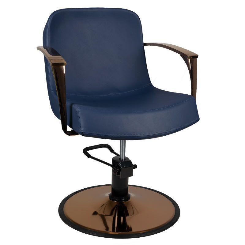 GABBIANO Kadeřnická židle měď BOLONIA - námořnická modř