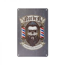 Plechová retro cedule Barbershop B014