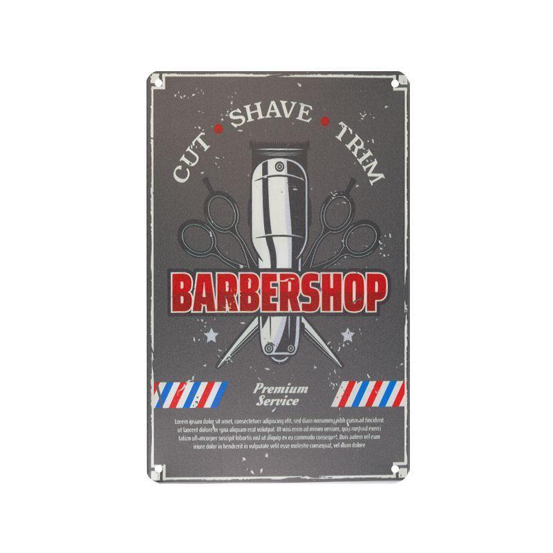 Plechová retro cedule Barbershop B028