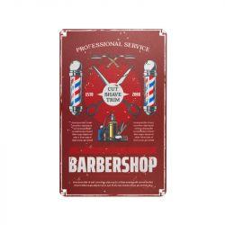 Plechová retro cedule Barbershop B029