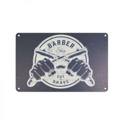 Plechová retro cedule Barbershop B034