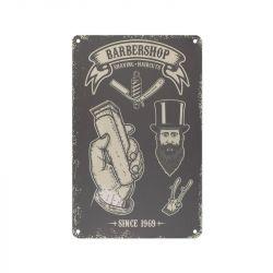 Plechová retro cedule Barbershop B047