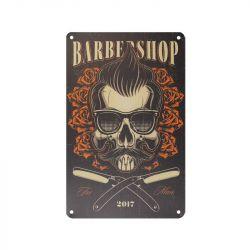 Plechová retro cedule Barbershop B050