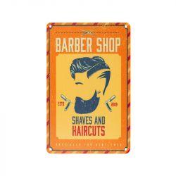 Plechová retro cedule Barbershop B056