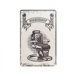 Plechová retro cedule Barbershop B058