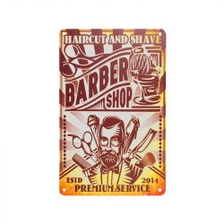 Plechová retro cedule Barbershop B073