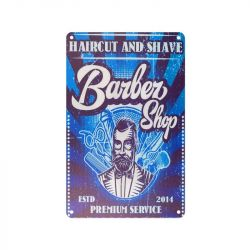 Plechová retro cedule Barbershop B074