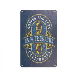 Plechová retro cedule Barbershop B076