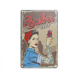 Plechová retro cedule Barbershop B078