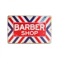Plechová retro cedule Barbershop C004