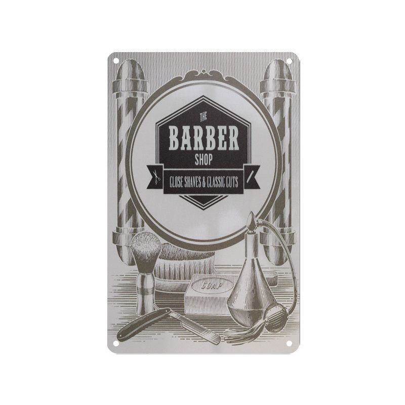 Plechová retro cedule Barbershop C010