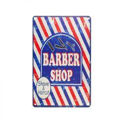 Plechová retro cedule Barbershop C012