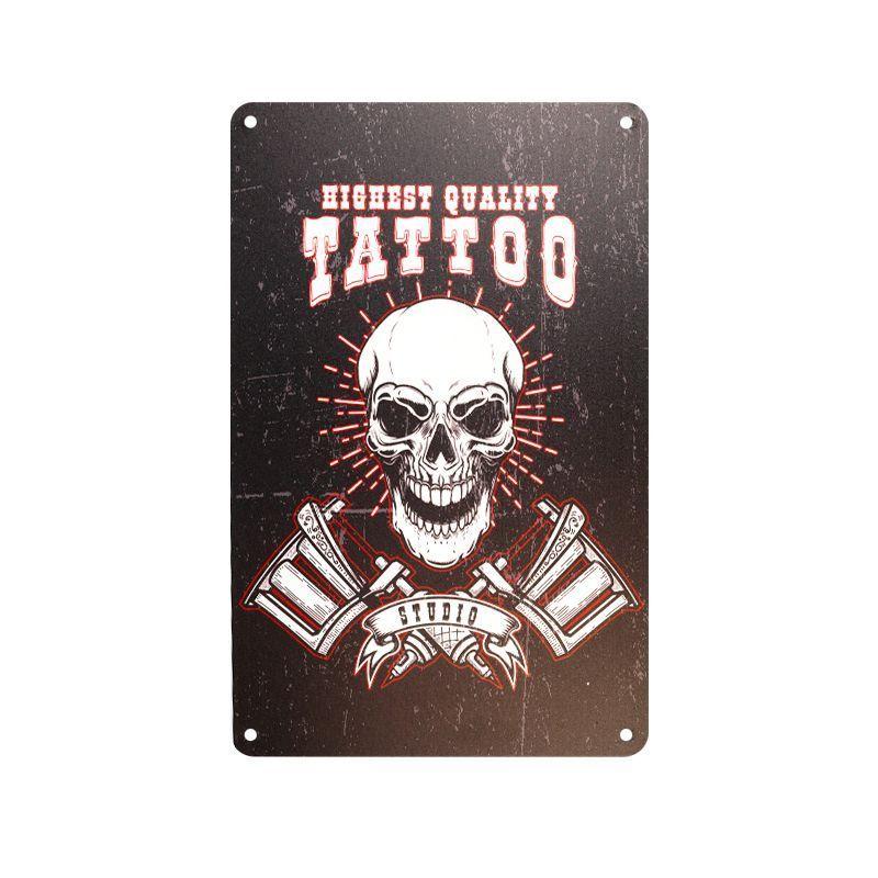 Plechová retro cedule Tattoo TA101