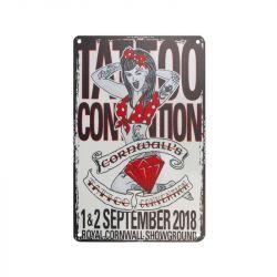 Plechová retro cedule Tattoo TA134