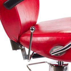 Barber židle HEKTOR BH - 3208 - červená