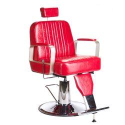 Barber židle HOMER BH-31237 - červená