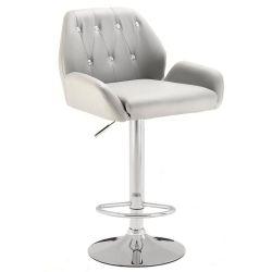 Barová židle LION na stříbrném talíři - šedá
