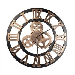 Dekorativní mosazné hodiny - ozubené kolo