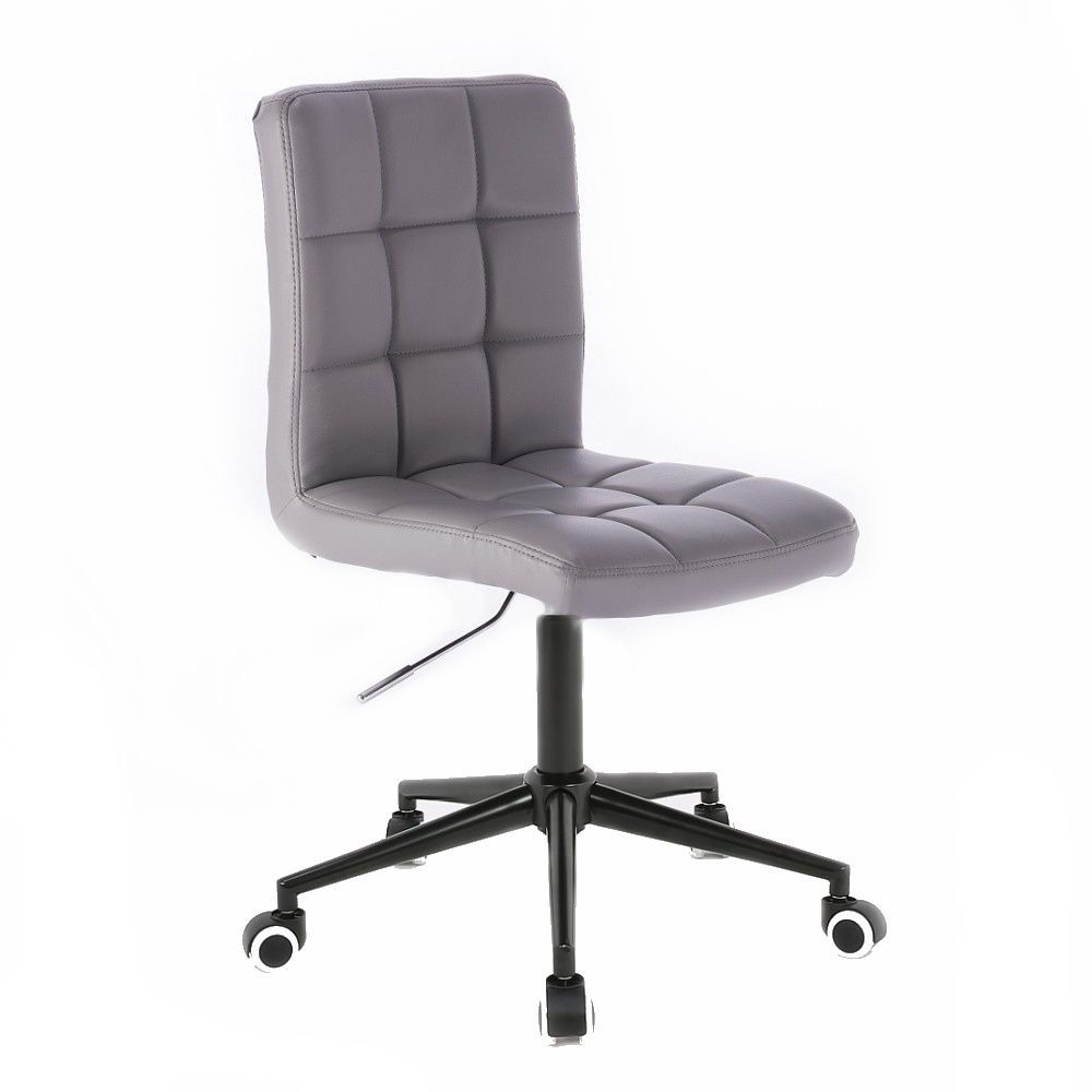 Kosmetická židle TOLEDO na černé podstavě s kolečky - šedá