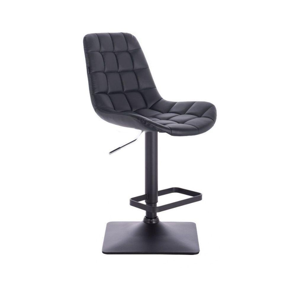Barová židle PARIS na černé podstavě - černá