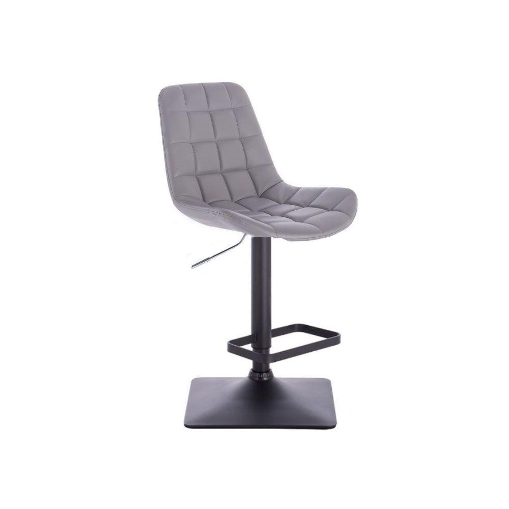 Barová židle PARIS na černé podstavě - šedá
