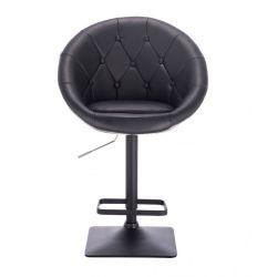 Barová židle VERA na černé podstavě - černá