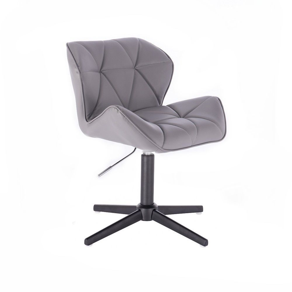 Kosmetická židle MILANO na černém kříži - šedá