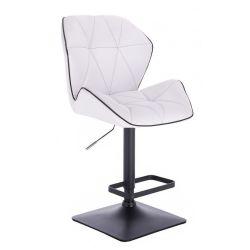 Barová židle MILANO MAX na černé podstavě - bílá