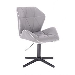 Kosmetická židle MILANO MAX na černém kříži - šedá