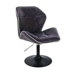 Kosmetická židle MILANO MAX na černém talíři - černá