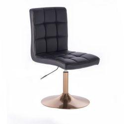 Kosmetická židle TOLEDO na zlatém talíři - černá