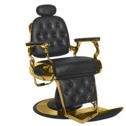 GABBIANO Barber křeslo  FRANCESCO GOLD - černé