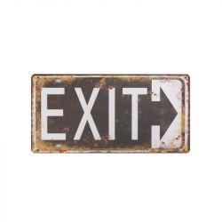 Plechová dekorační cedule  EXIT 124