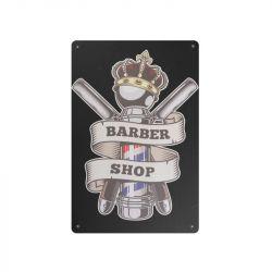 Plechová retro cedule Barbershop B015