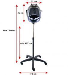 GABBIANO Vysoušeč přilba na stojanu LI-202S dvourychlostní - černá