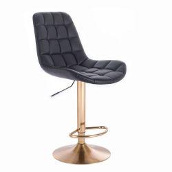 Barová židle PARIS na zlatém talíři  - černá