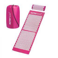 Akupresurní podložka s polštářkem - růžovobílá (AS)