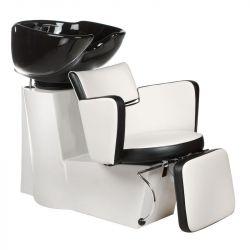 Kadeřnický mycí box LUIGI BR-3542 bílá - černá