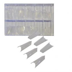 Nehtové tipy EDGE čiré - 100 ks v boxu