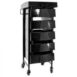 Kadeřnický vozík 008 černý (AS)