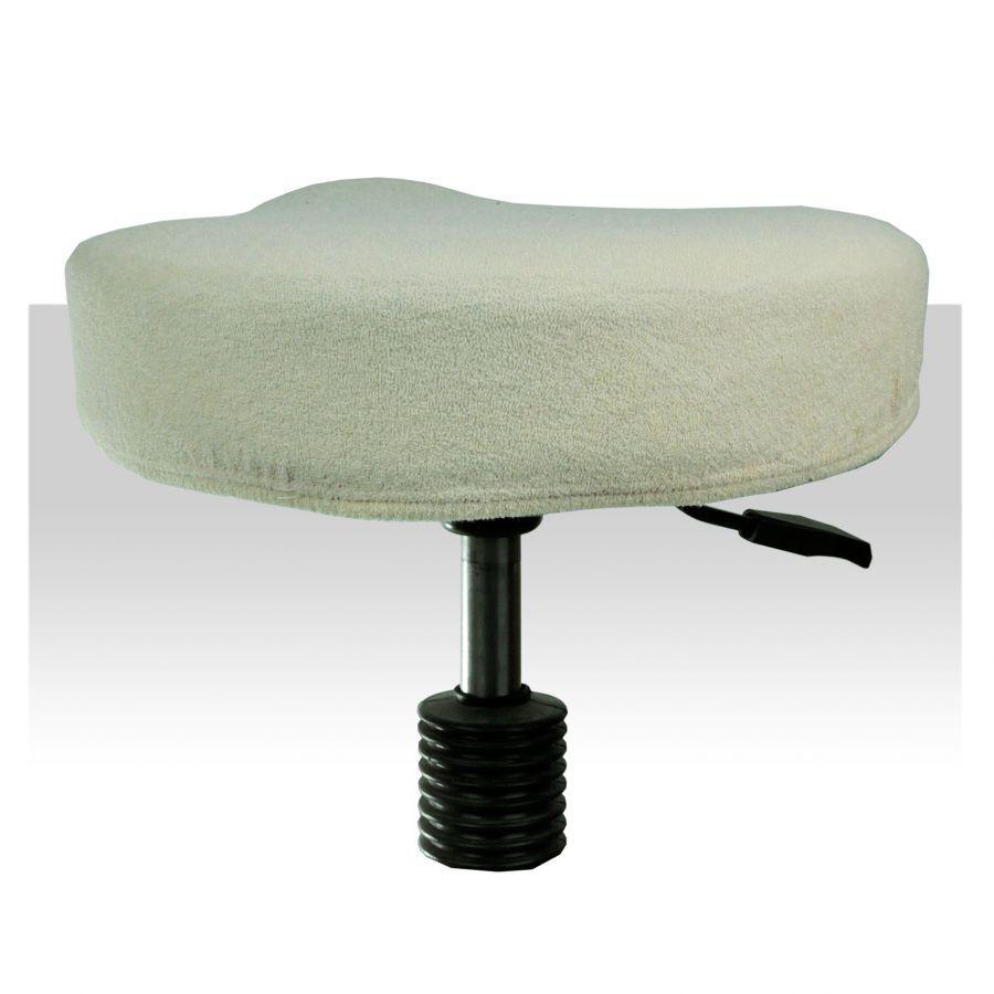 Froté potah / obal na taburet - béžový