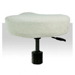 Froté potah kosmetickou židli - bílý (A)
