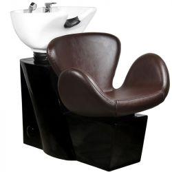 Kadeřnický mycí box GABBIANO AMSTERDAM hnědý (AS)