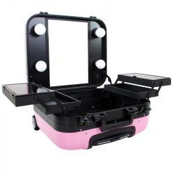 Kosmetický kufr GLAMOUR 9302-2 růžový (AS)
