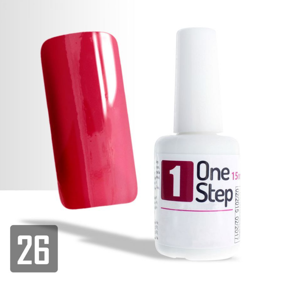 One Step gel UV/LED 3v1 rubínový 15ml