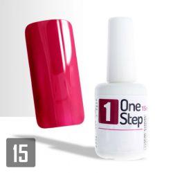 One Step gel UV/LED 3v1 tmavě červený 15ml (A)