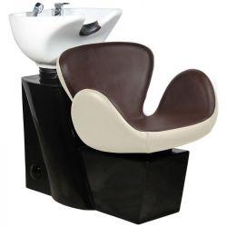 Kadeřnický mycí box GABBIANO AMSTERDAM hnědo-béžový (AS)