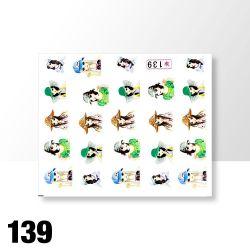 Vodolepky na zdobení nehtů č. 139